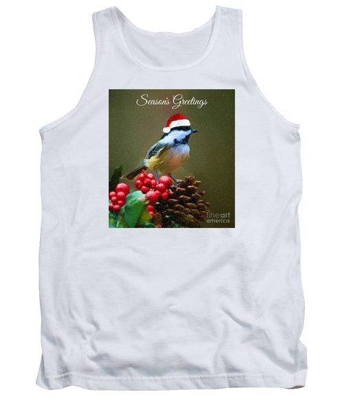 Seasons Greetings Chickadee Tank Top by Tina LeCour