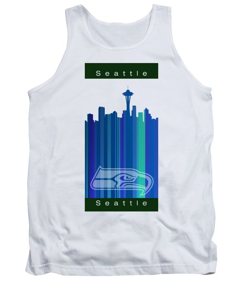 Seattle Sehawks Skyline Tank Top by Alberto RuiZ