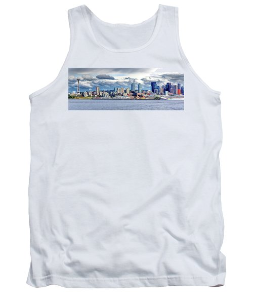 Seattle Skyline Hdr Tank Top