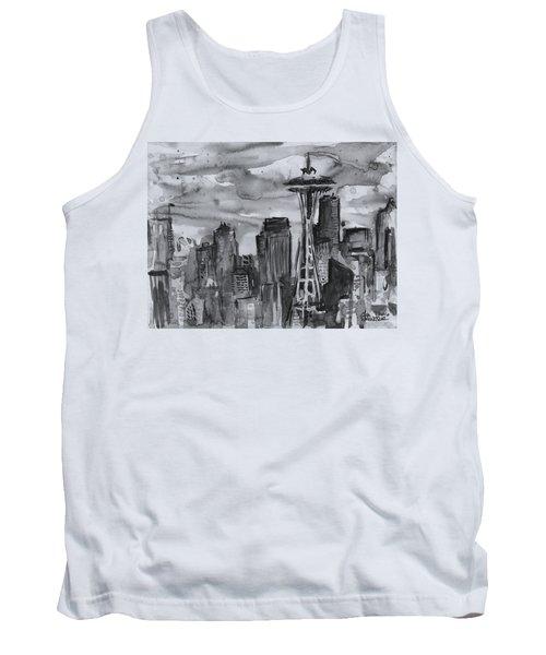 Seattle Skyline Space Needle Tank Top