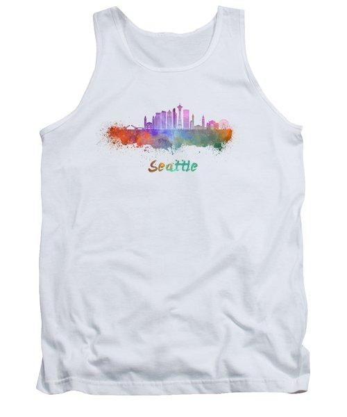 Seattle V2 Skyline In Watercolor Tank Top