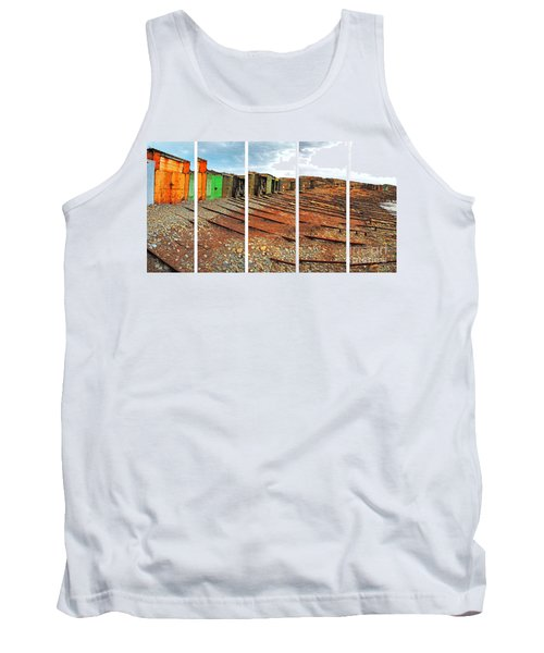 Tank Top featuring the photograph Second Valley Boat Sheds by Stephen Mitchell