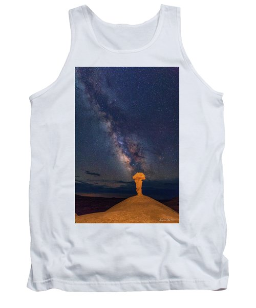 Secret Spire And The Milky Way Vertical Tank Top