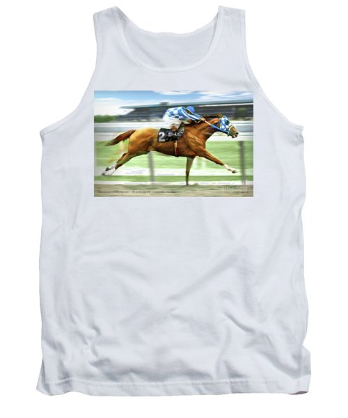 Secretariat On The Back Stretch At The Belmont Stakes Tank Top