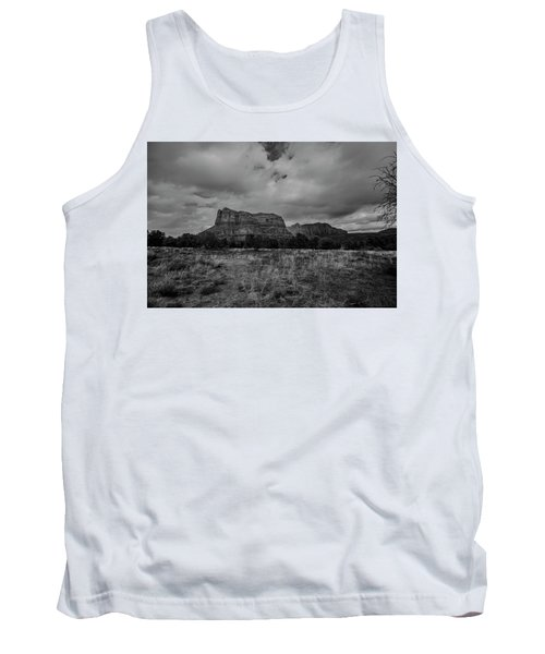 Tank Top featuring the photograph Sedona Red Rock Country Arizona Bnw 0177 by David Haskett