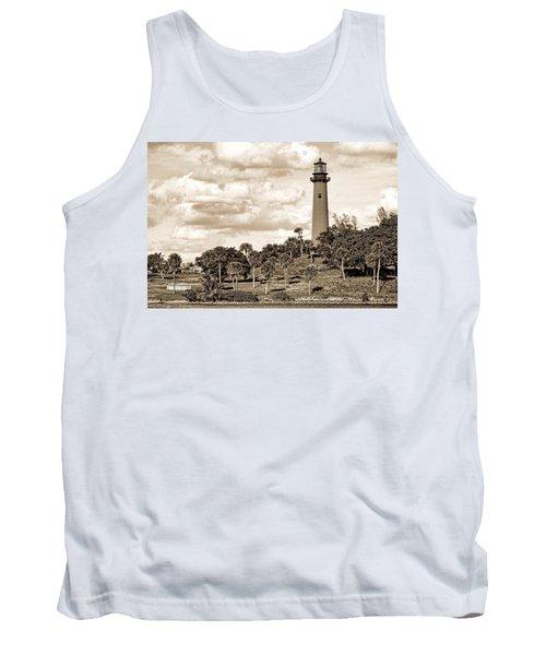 Sepia Lighthouse Tank Top