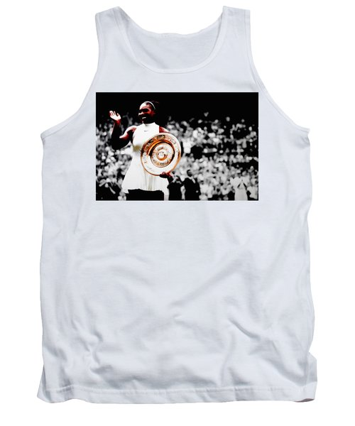 Serena 2016 Wimbledon Victory Tank Top by Brian Reaves