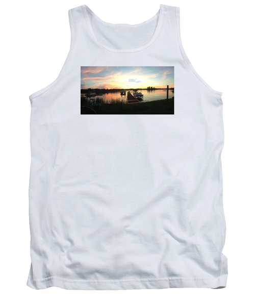 Tank Top featuring the photograph Serene Sunset by Rebecca Wood