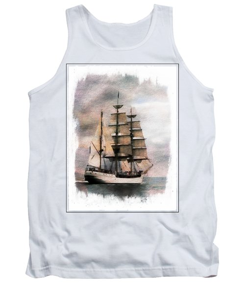Tank Top featuring the painting Set Sail by Aaron Berg
