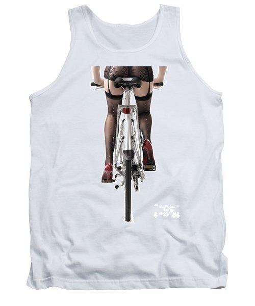 Sexy Woman Riding A Bike Tank Top