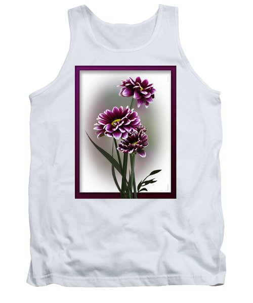 Shades Of Purple Tank Top by Judy Johnson