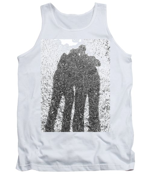 Tank Top featuring the photograph Shadow In The Meadow Bw by Wilhelm Hufnagl