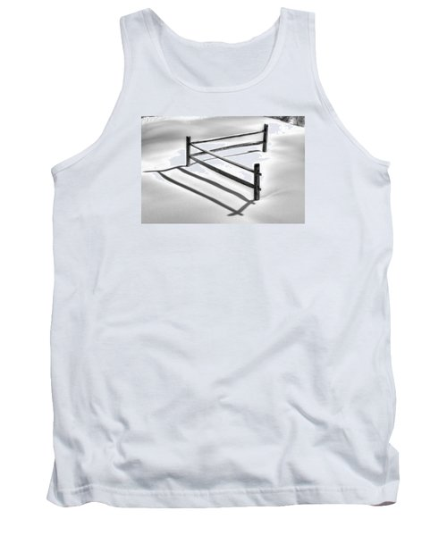 Shadows In The Snow - No. 1 Tank Top by Michael Mazaika
