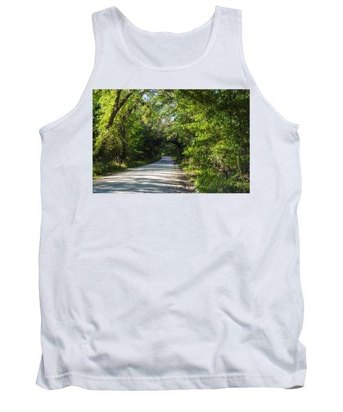 Tank Top featuring the photograph Shady Lane In Ocklawaha by Deborah Smolinske