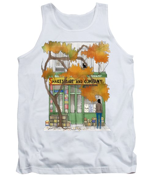Shakespeare And Company - By Diana Van Tank Top