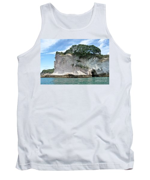 Tank Top featuring the photograph Shakespeare Rock, New Zealand by Yurix Sardinelly