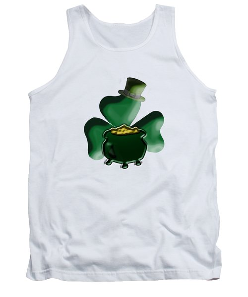 Shamrock And Pot Of Gold Tank Top