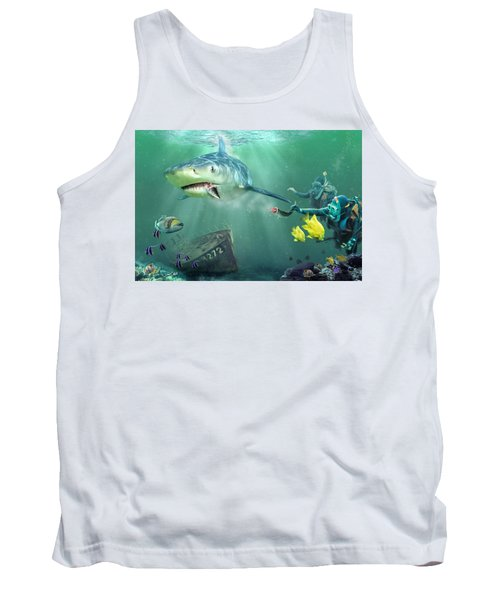 Tank Top featuring the photograph Shark Bait by Don Olea