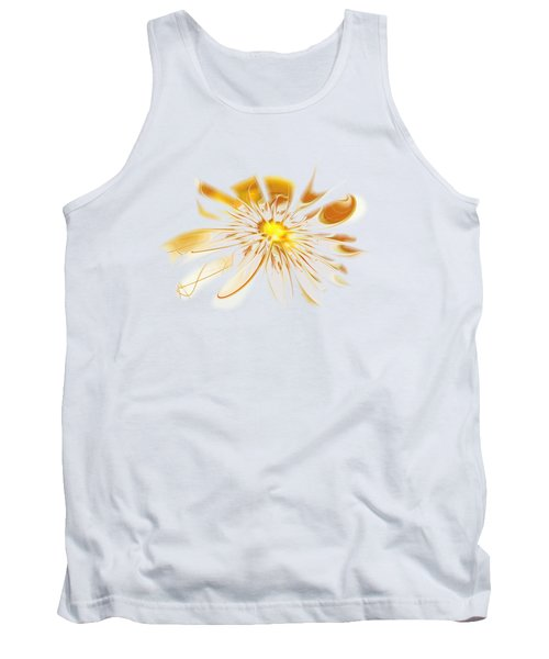 Shining Yellow Flower Tank Top