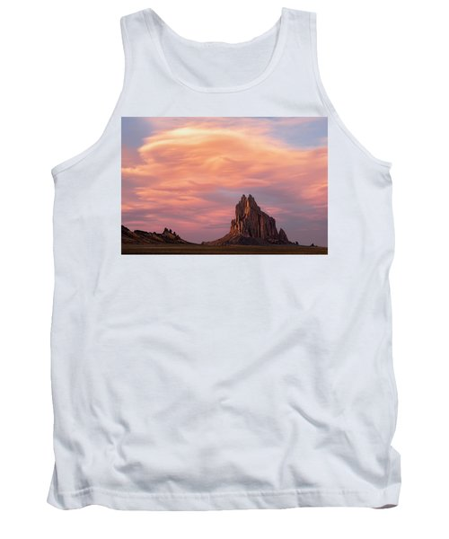 Shiprock At Sunset Tank Top