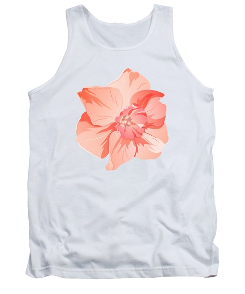 Short Trumpet Daffodil In Warm Pink Tank Top