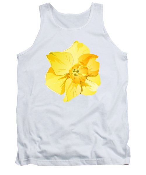 Tank Top featuring the digital art Short Trumpet Daffodil In Yellow by MM Anderson