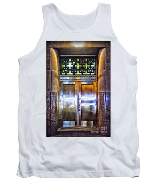 Tank Top featuring the photograph Sights In New York City - Bright Door by Walt Foegelle