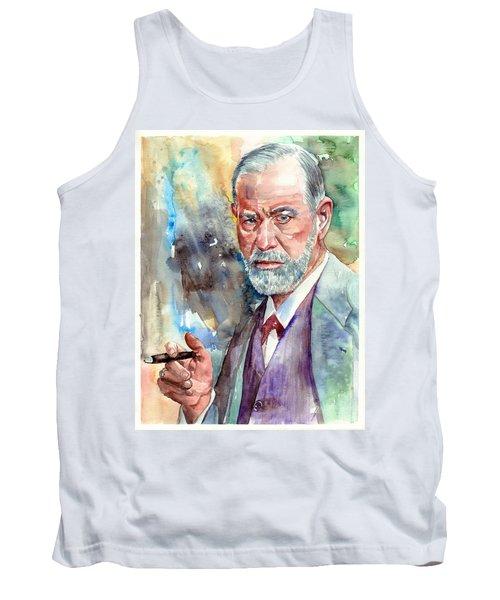 Sigmund Freud Portrait Tank Top