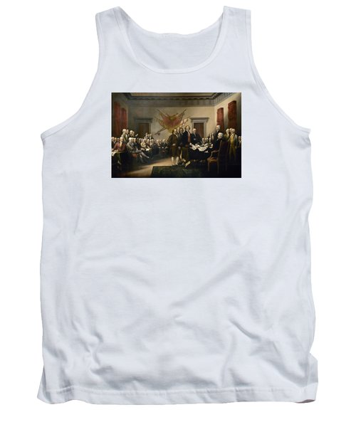 Signing The Declaration Of Independence Tank Top