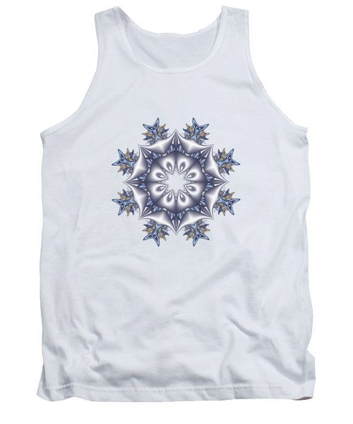Silver Fractal Snowflake Tank Top