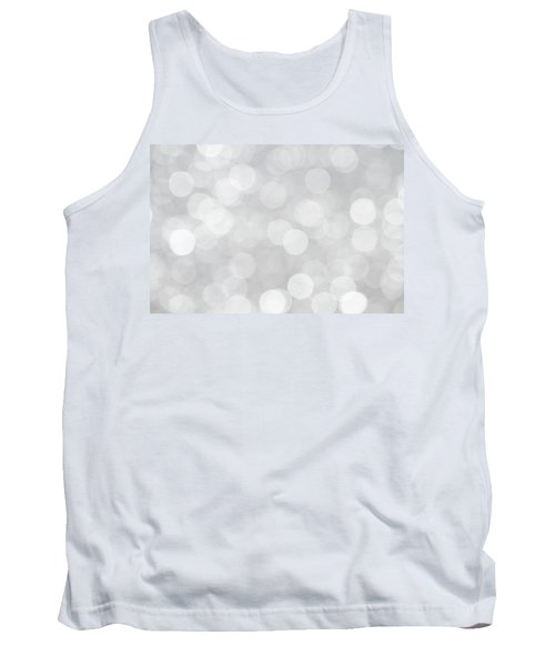 Silver Grey Bokeh Abstract Tank Top by Peggy Collins