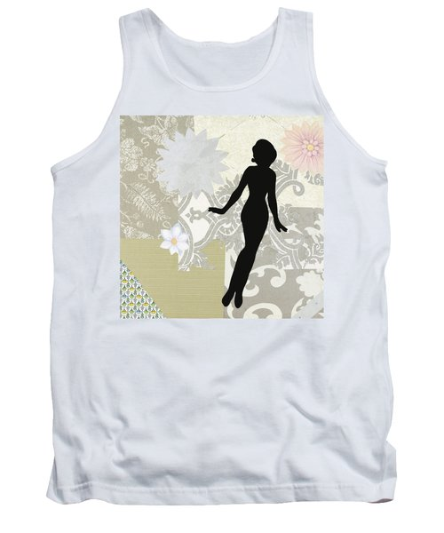 Silver Paper Doll Tank Top