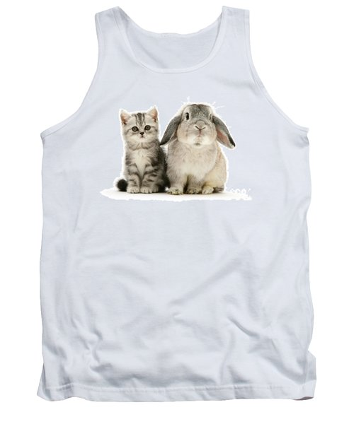 Silver Tabby And Rabby Tank Top