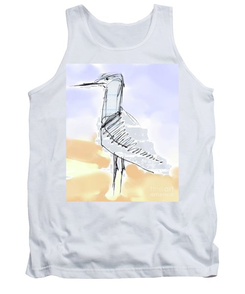 Tank Top featuring the drawing Simon by Carolyn Weltman