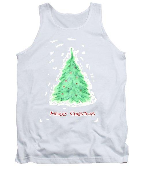 Simple Christmas Card 2 Tank Top