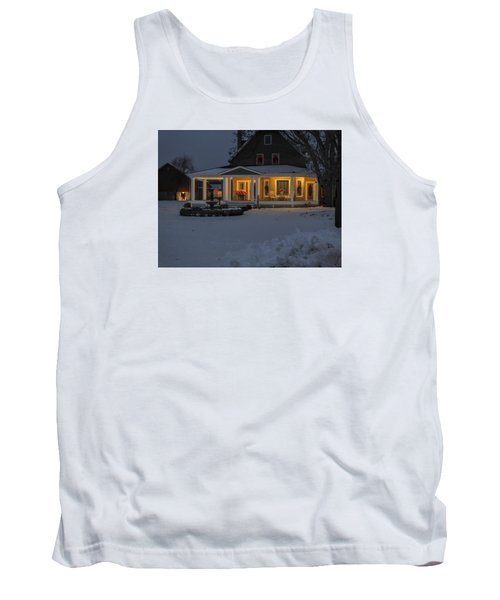 Tank Top featuring the photograph Simply Elegant Porch by Judy Johnson