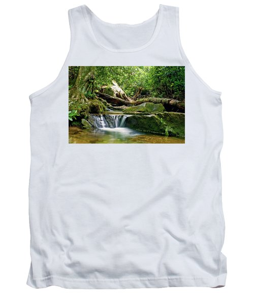 Tank Top featuring the photograph Sims Creek Waterfall by Meta Gatschenberger