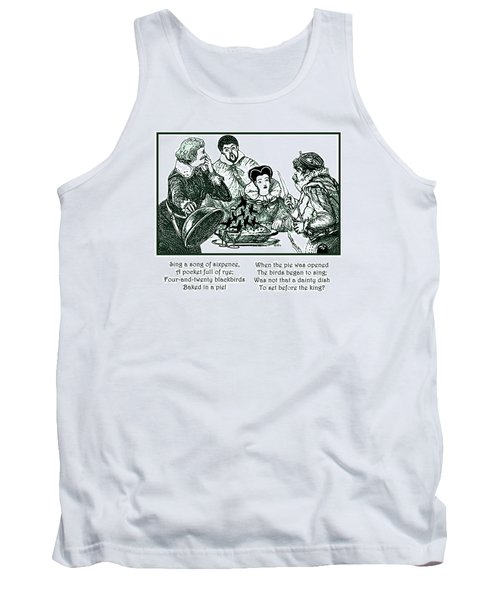 Tank Top featuring the painting Sing A Song Of Sixpence Nursery Rhyme by Marian Cates