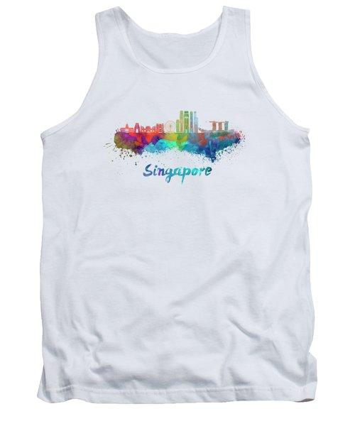 Singapore V2 Skyline In Watercolor Tank Top