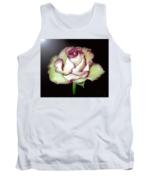 Single Beautiful Rose Tank Top
