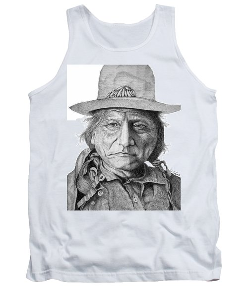 Sitting Bull Tank Top by Lawrence Tripoli
