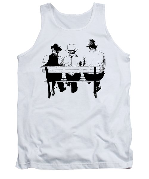 Sitting On A Park Bench Tank Top