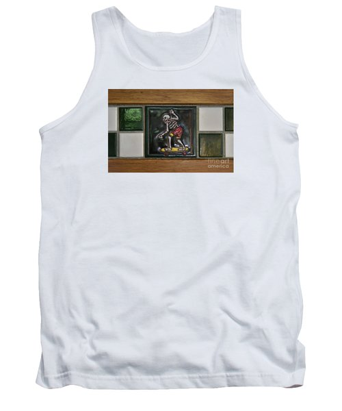 Skeleton On Wheels Tank Top