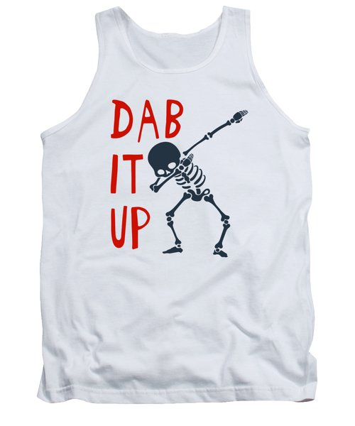 Skelleton Halloween Dabbing Funny Humor Easy Costume Dab It Up Everywhere Kids Children Dabbing Offi Tank Top