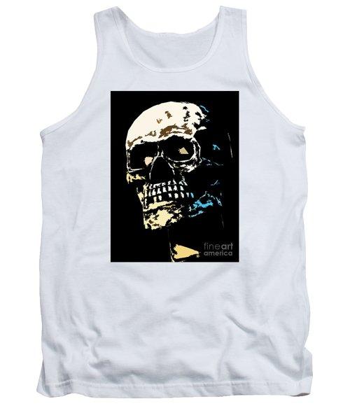 Skull Against A Dark Background Tank Top