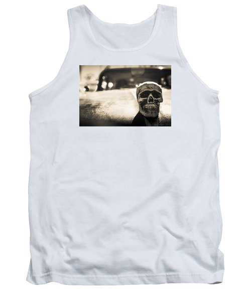 Tank Top featuring the photograph Skull Car by Lora Lee Chapman