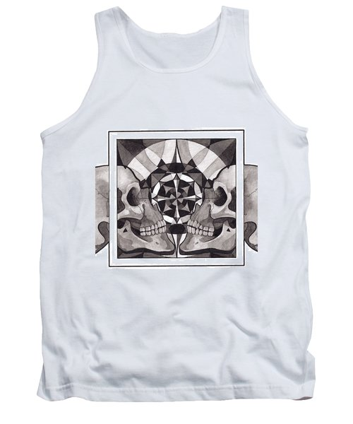 Skull Mandala Series Nr 1 Tank Top by Deadcharming Art