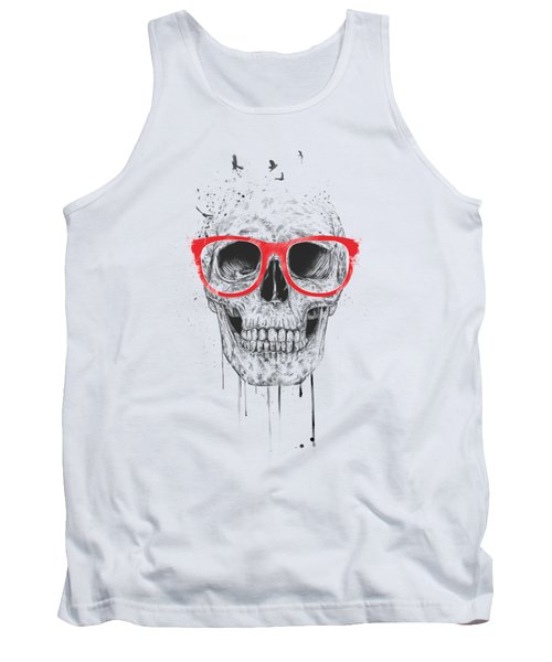 Skull With Red Glasses Tank Top