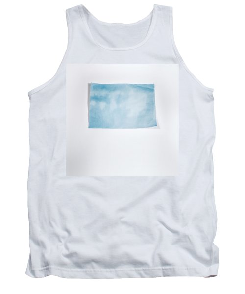 Sky Blue On White Tank Top