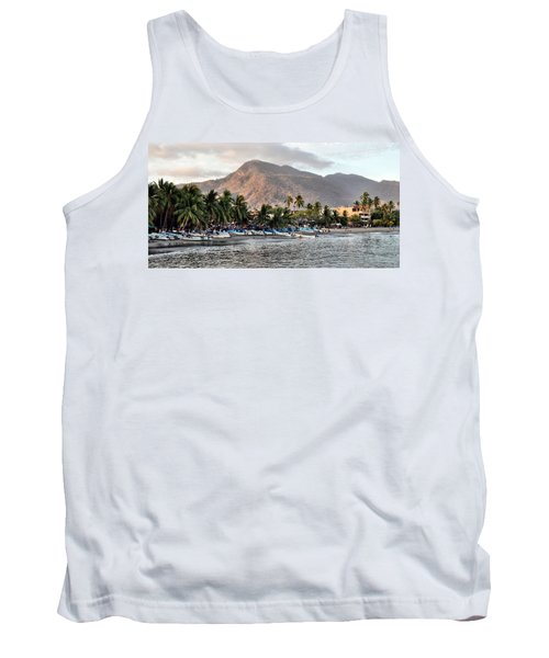 Sleepy Fishing Village Tank Top